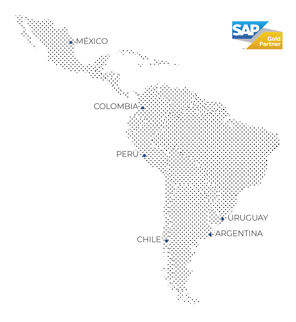 Mapa Latinoamérica SAP Partnership Desktop