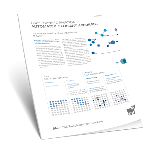 SAP Transformation: Automated, Efficient, Accurate  Book