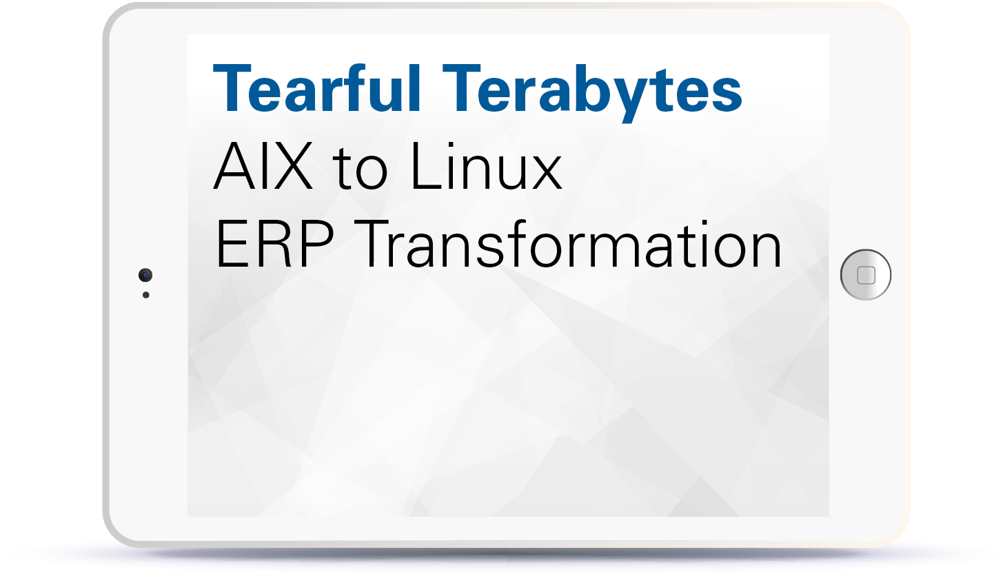 Webinar Tearful Terabytes - AIX to Linux ERP Transformation Book