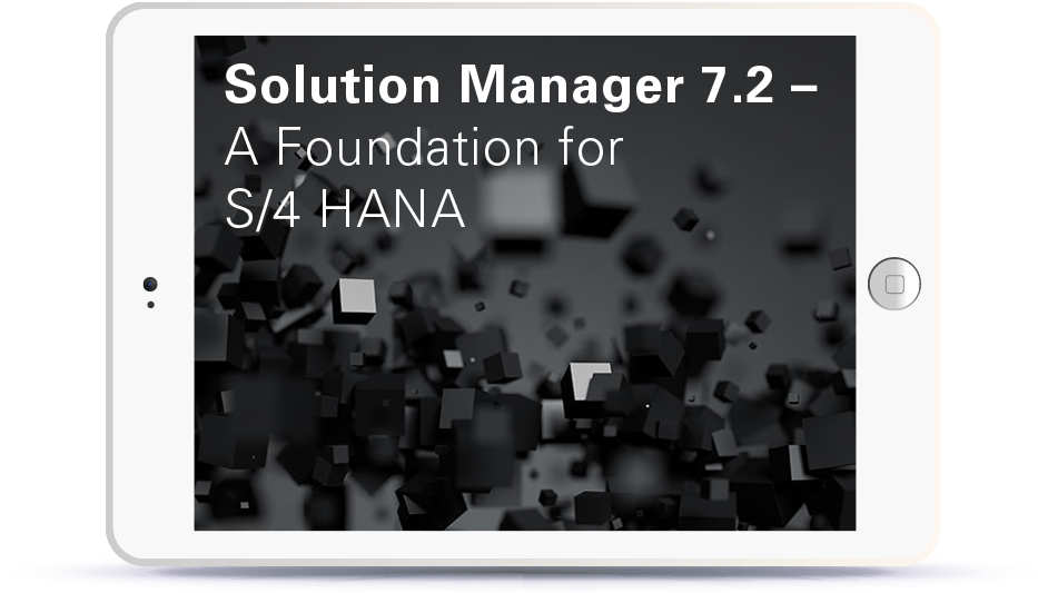 Webinar Solution Manager 7.2 - A foundation for S4HANA Book