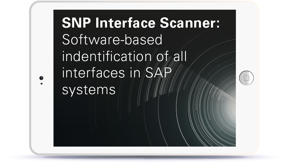 Webinar SNP Interface Scanner: Software-based identification of all interfaces in SAP systems Book