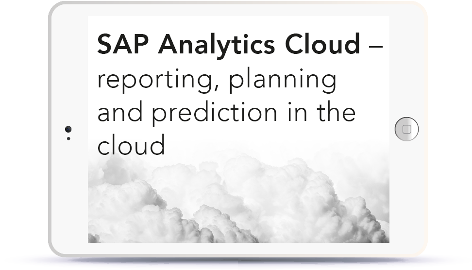 SAP Analytics Cloud – reporting, planning and prediction in the cloud<br> <br>Tuesday, October 16, 12:00-13:00pm CEST Book