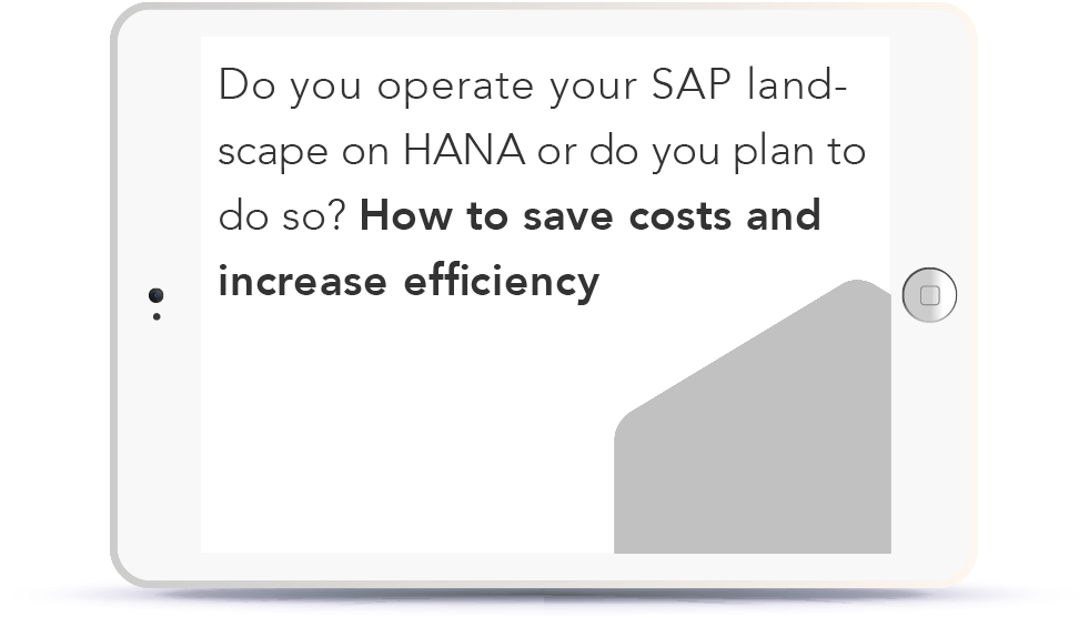 Do you operate your SAP landscape on HANA or planning to do so?->Discover how to save costs and increase efficiency Book