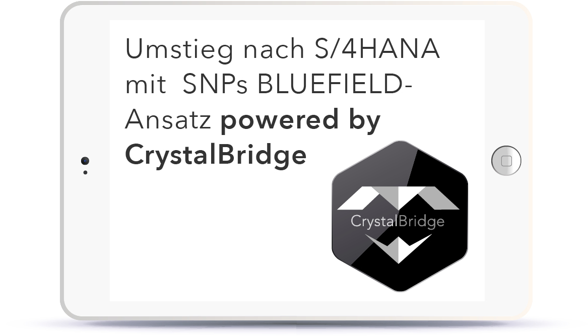 WEBINAR: Umstieg nach S/4HANA mit  SNPs BLUEFIELD™-Ansatz powered by CrystalBridge® Book