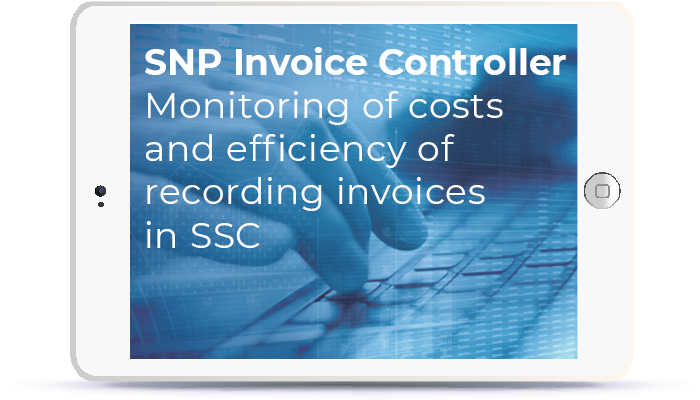 SNP Invoice Controller - Monitoring of costs and efficiency of recording invoices in SSC Book