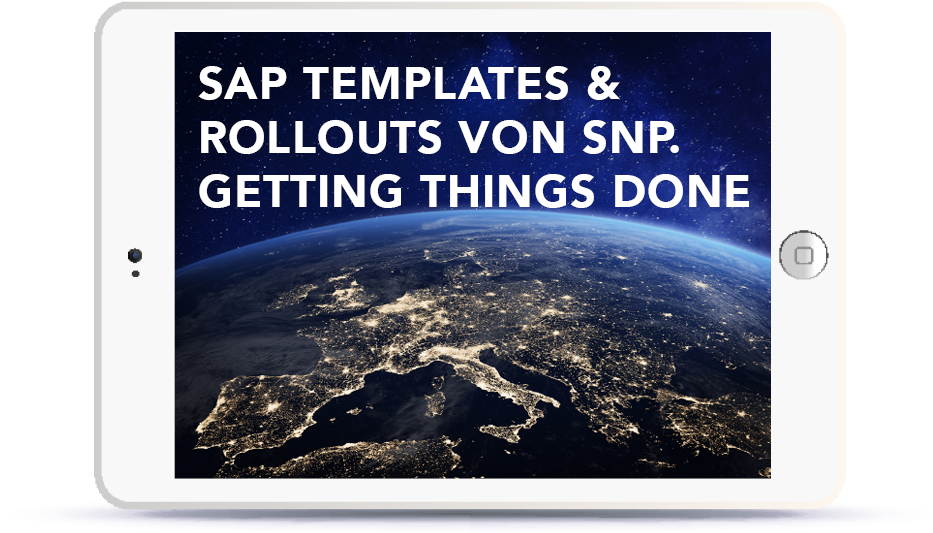 SAP Templates & Rollouts von SNP. Getting Things Done. Book