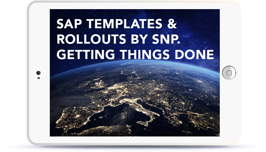 SAP Templates & Rollouts by SNP. Getting Things Done. Book