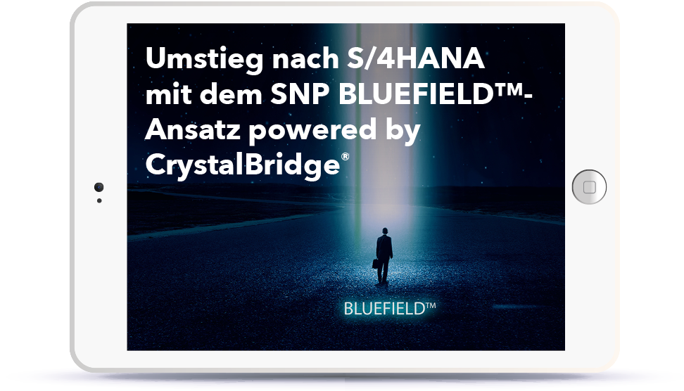WEBINAR: Umstieg nach S/4HANA mit dem SNP BLUEFIELD™-Ansatz powered by CrystalBridge® Book